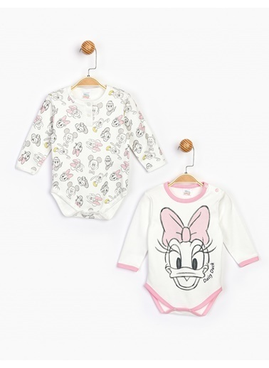 Minnie Mouse  Uzun Kol 2'Li Body 16077 Ekru
